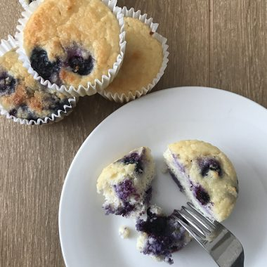 Keto Blueberry And Yogurt Muffins