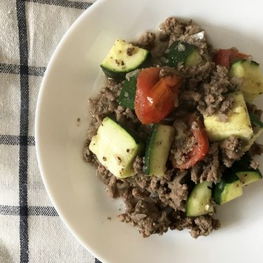 Mexican Zucchini With Beef And Tomatoes - Low-Carb Recipe