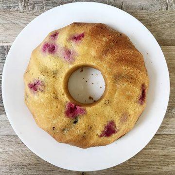 Raspberry Pecan Cake