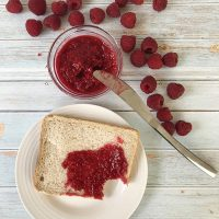Easy Keto And Sugar-Free Raspberry Jam