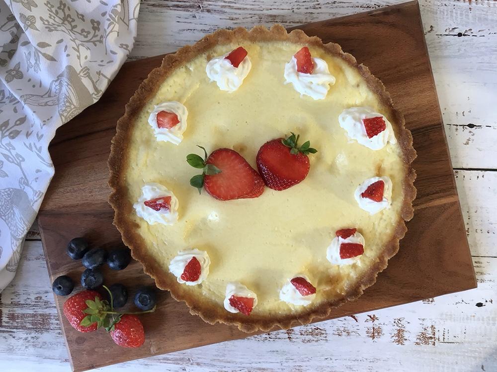 Keto Custard Tart - Low Carb And Sugar Free Custard Pie