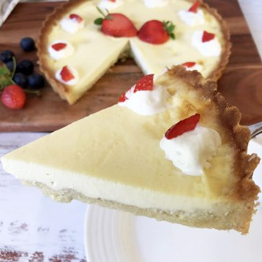 Keto Custard Tart - Low Carb And Sugar Free Custard Pie