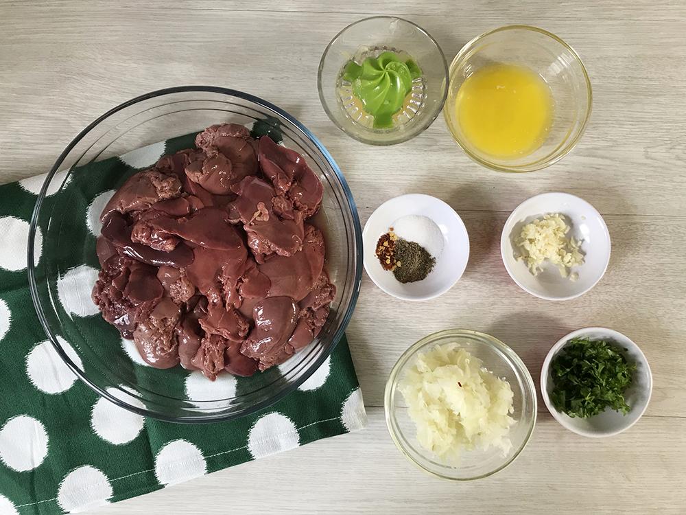 Grilled Chicken Liver