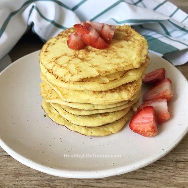 Healthy Greek Yoghurt Pancakes, Keto-Friendly