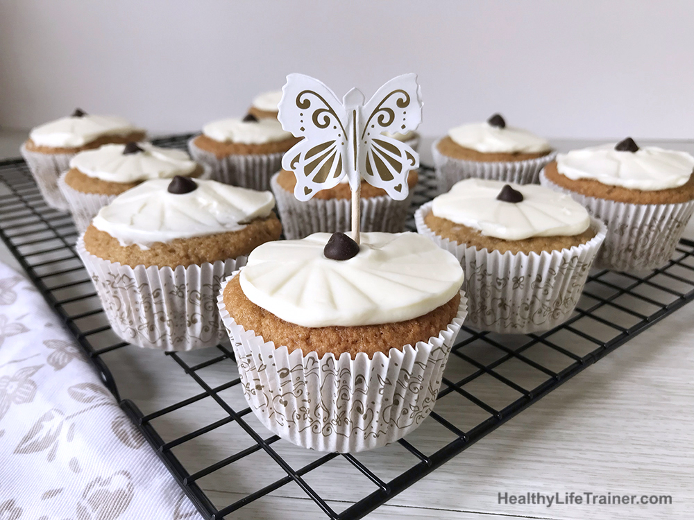 low carb coffee cupcakes