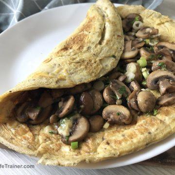 fluffy mushroom omelette