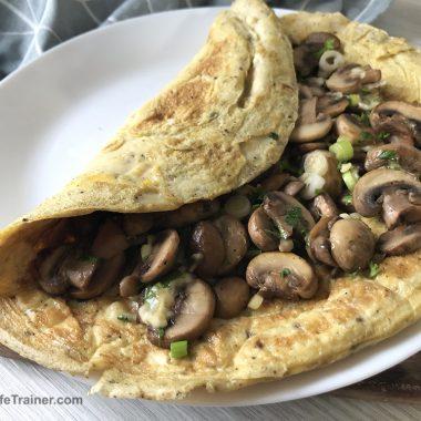 Fluffy Mushroom Omelette Recipe