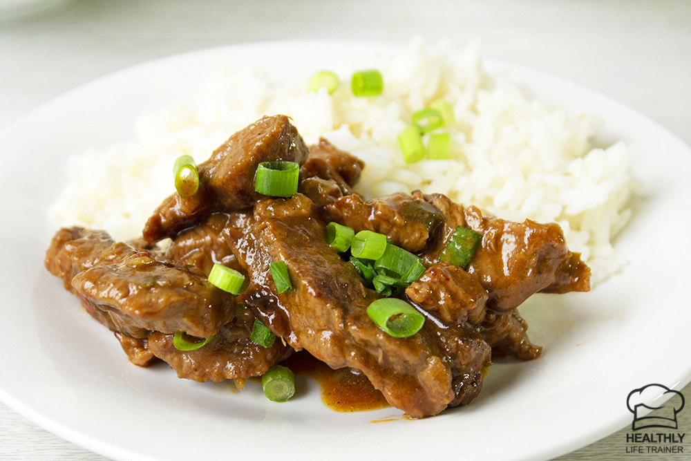 some chilli beef and rice