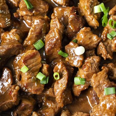 Chinese chilli beef recipe