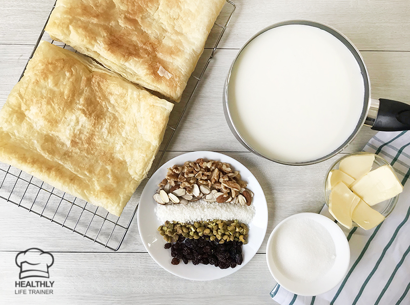 Om Ali – Egyptian Bread Pudding Recipe Ingredients