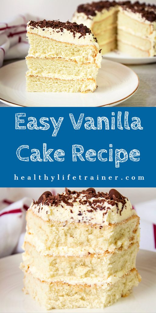 Healthy Life Trainer easy vanilla cake banner