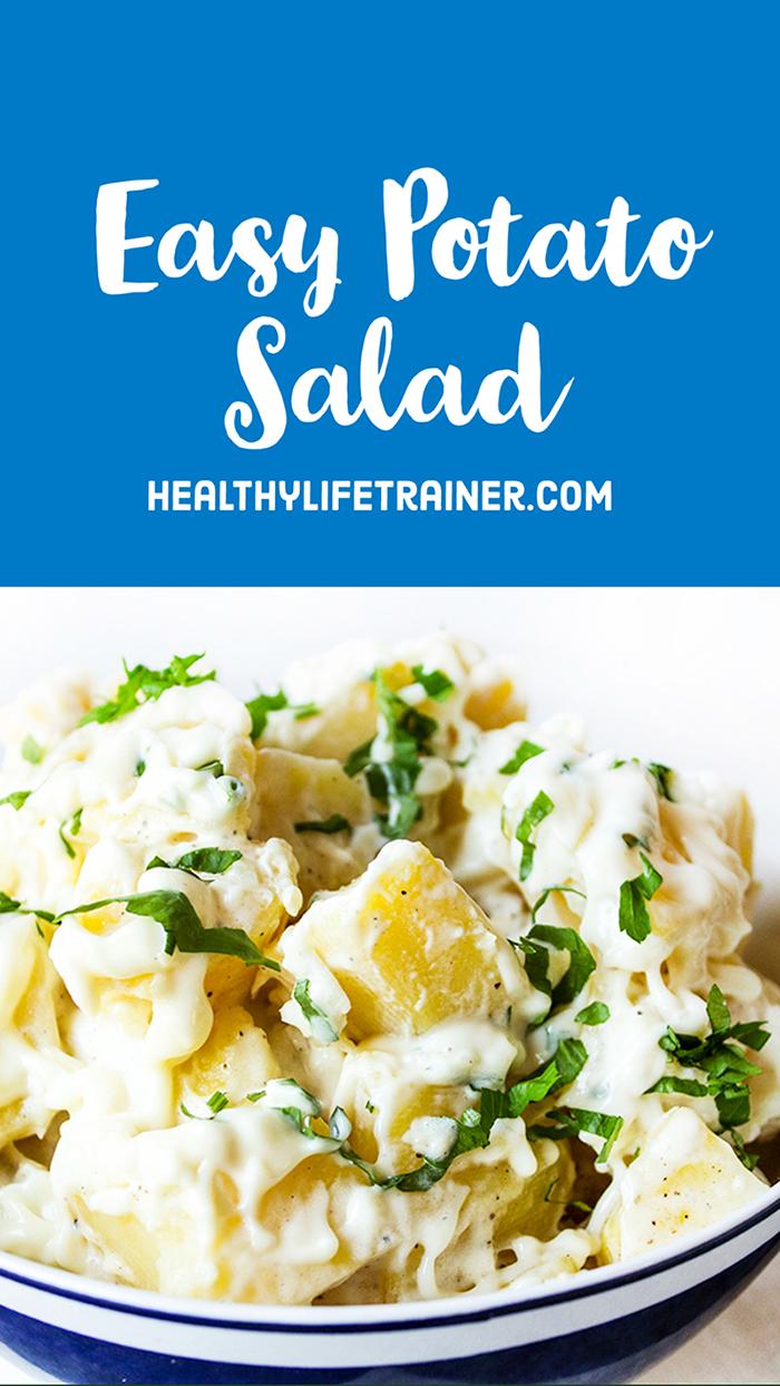 banner for an easy potato salad recipe