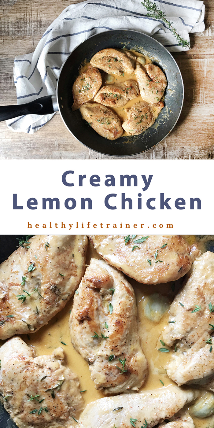 This creamy lemon chicken recipe is so easy to make you can't go wrong with it.
