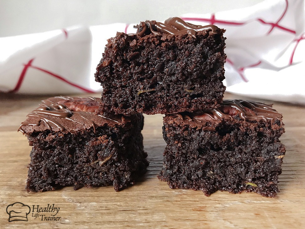 This Low carb zucchini (courgette) brownie bites recipe is super delicious and fudgy.
