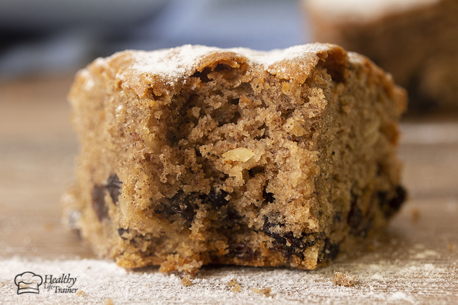 it black currant cake or spiced cake, however, it is soft and fluffy fruitcake made with dried black currant, raisins