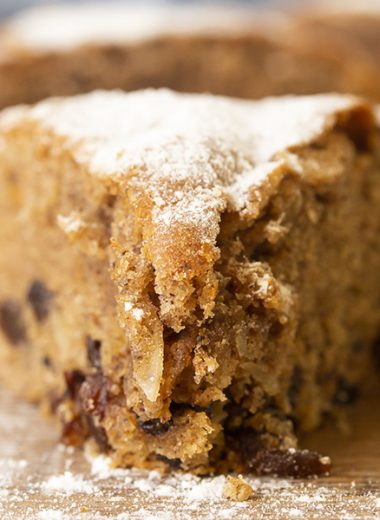call it black currant cake or spiced cake, however, it is soft and fluffy fruitcake made with dried black currant, raisins