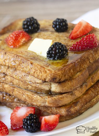 delicious french toast made with bread soaked in a mixture of whisked milk and eggs with a hint of cinnamon and vanilla