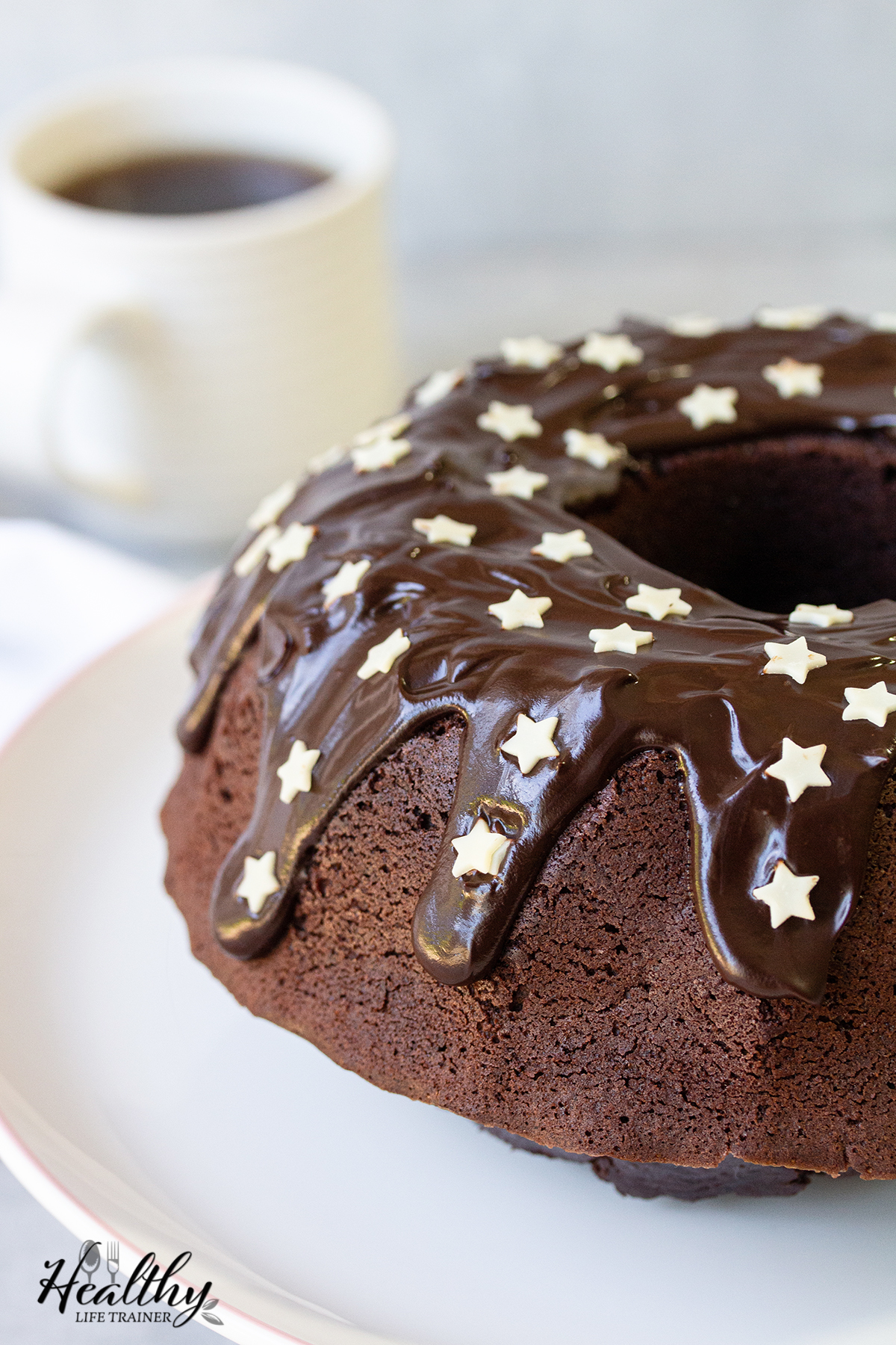 Chocolate Sour Cream Bundt Cake With Ganache