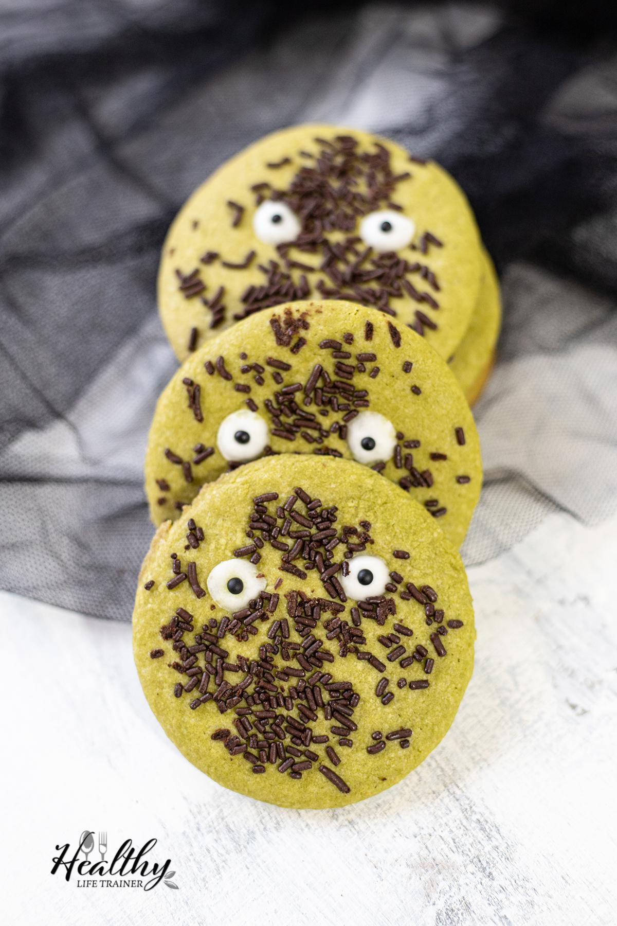 Matcha Halloween Cookies