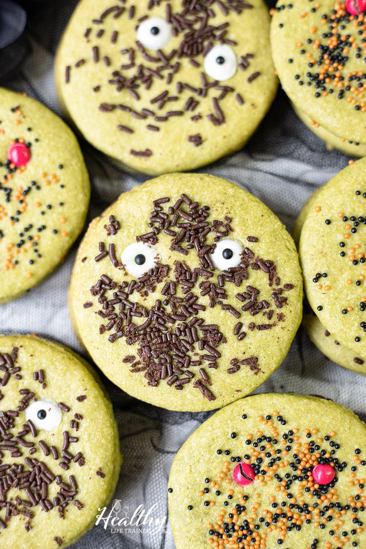 Matcha Halloween Cookies - Halloween Dessert Recipe