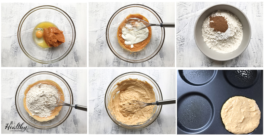 Making the recipe step by step