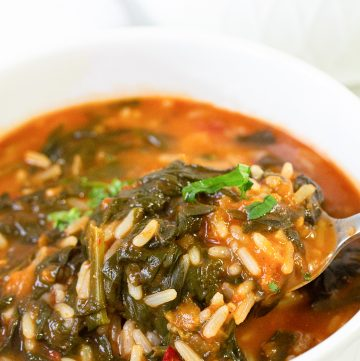 Spicy Rice And Spinach Stew