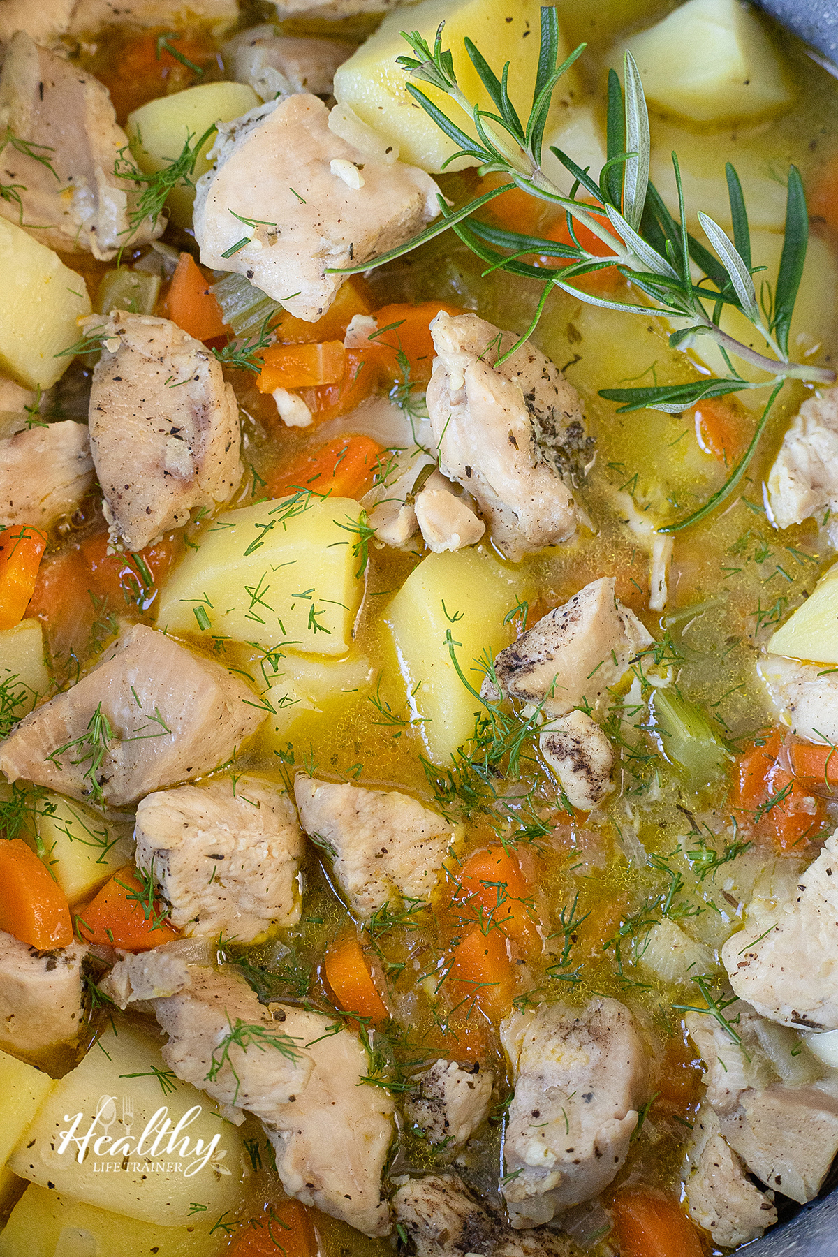 close shot to the Chicken Stew