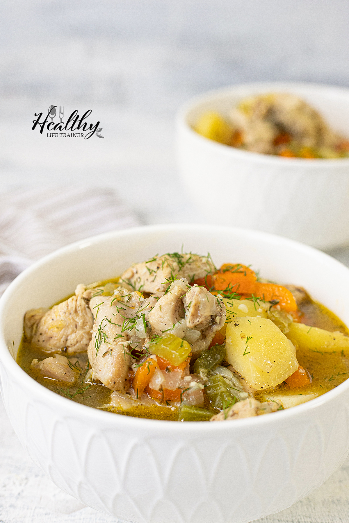 Chicken Stew With Veggies in a bowl