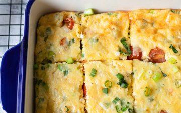 Crustless Quiche Recipe With Salmon And Eggs