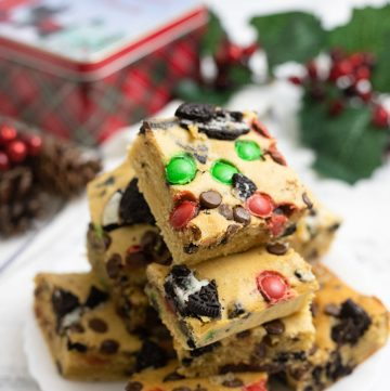Christmas Blondies