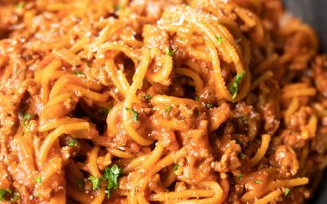 Easy One-Pot Spaghetti Bolognese