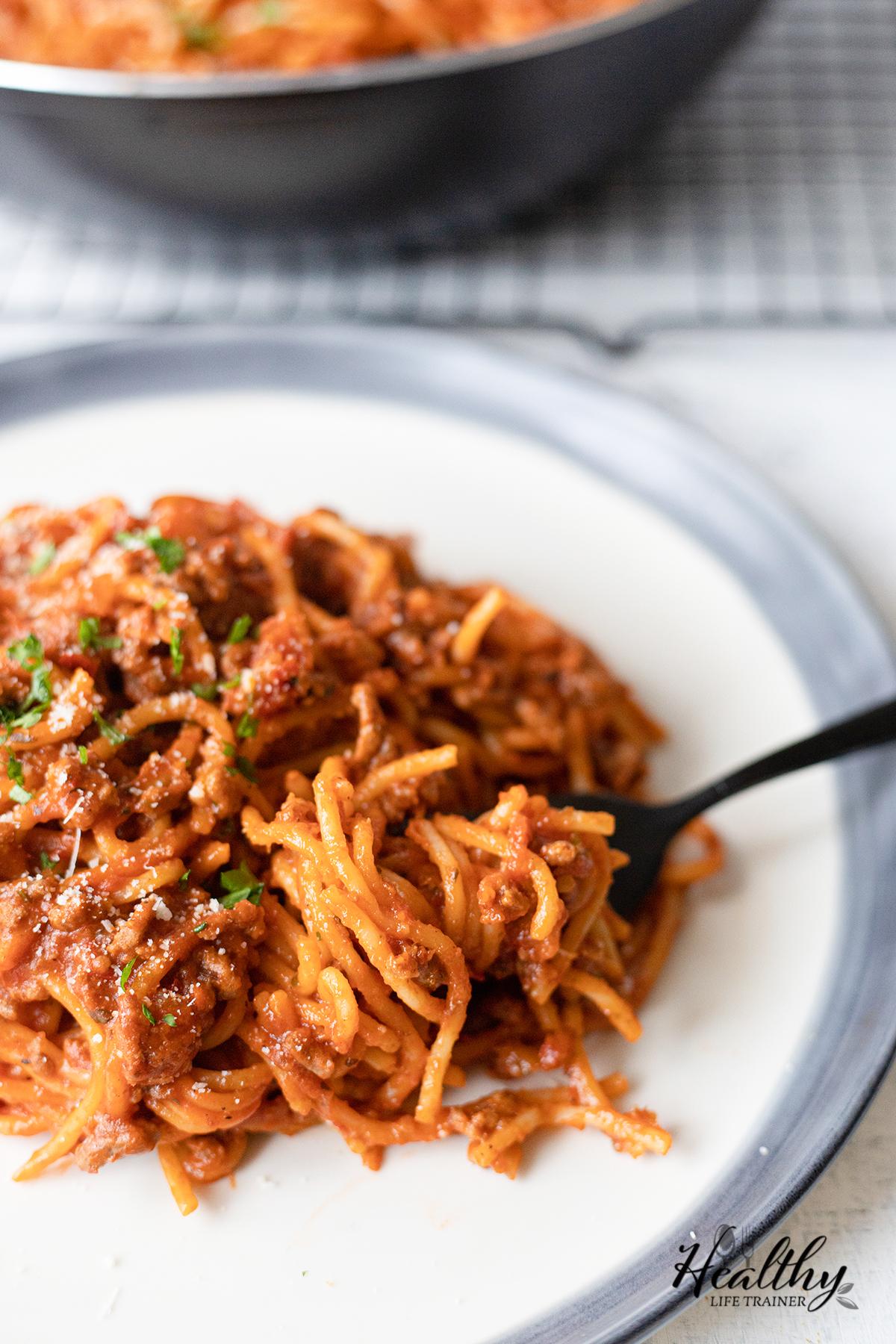Easy One-Pot Spaghetti Bolognese