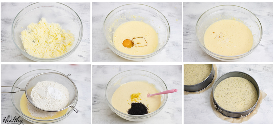 steps of making the cake