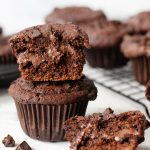 Nutella Stuffed Chocolate Muffin Recipe