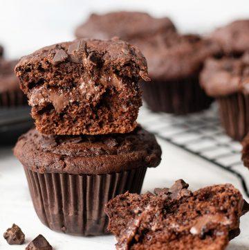 Nutella Stuffed Chocolate Muffin Recipe