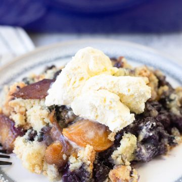 Blueberry and Peach Dump Cake