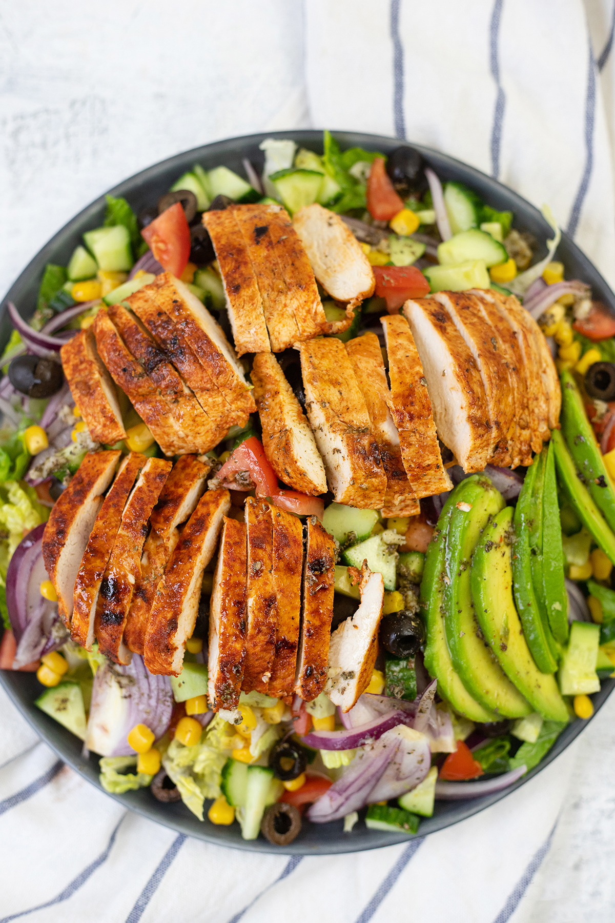 Mediterranean grilled chicken salad is the perfect chicken salad
