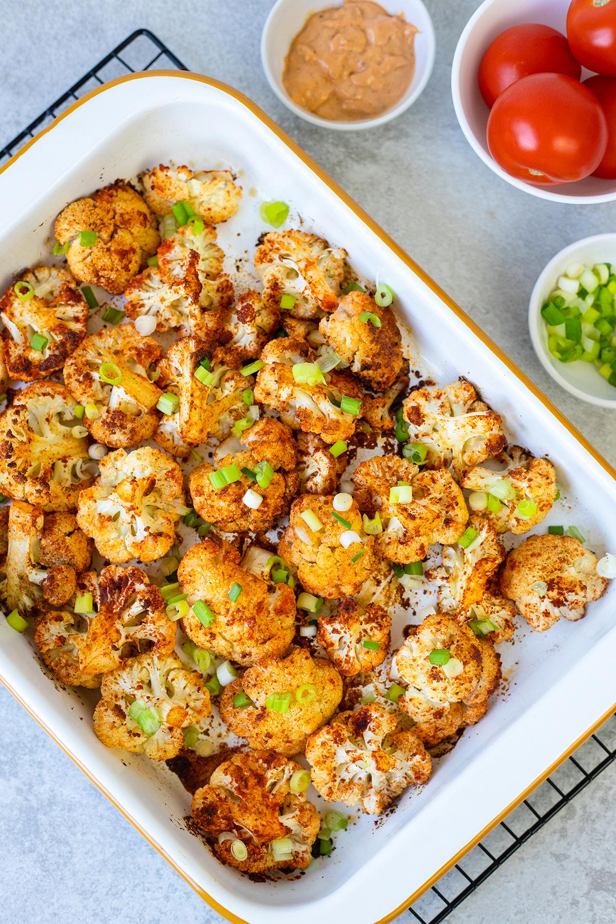 Spicy Roasted Cauliflower