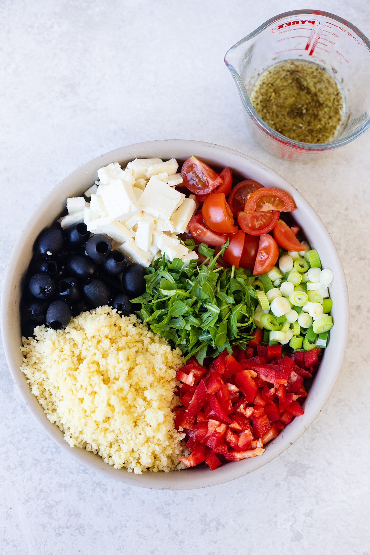 Mediterranean couscous salad is such a simple couscous recipe