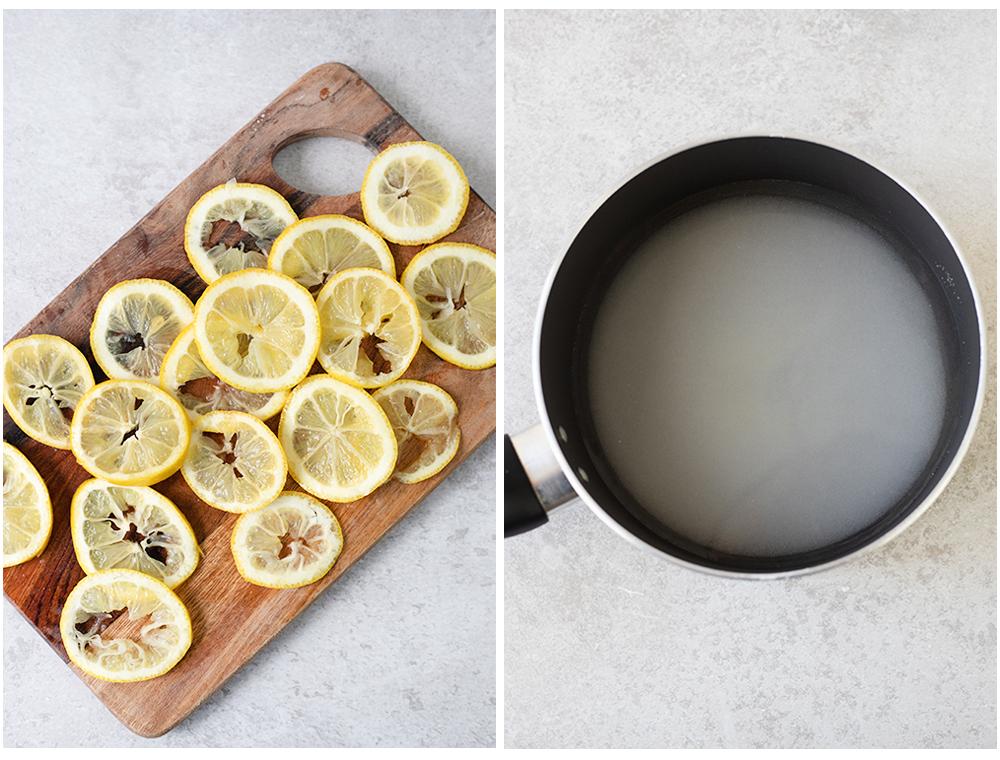 slice the lemons