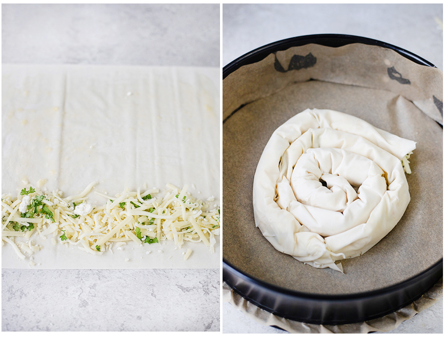 steps of preparing the filo sheets