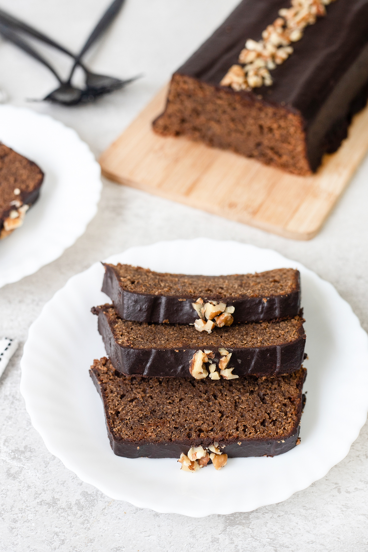 three slices of the Coffee Loaf Cake