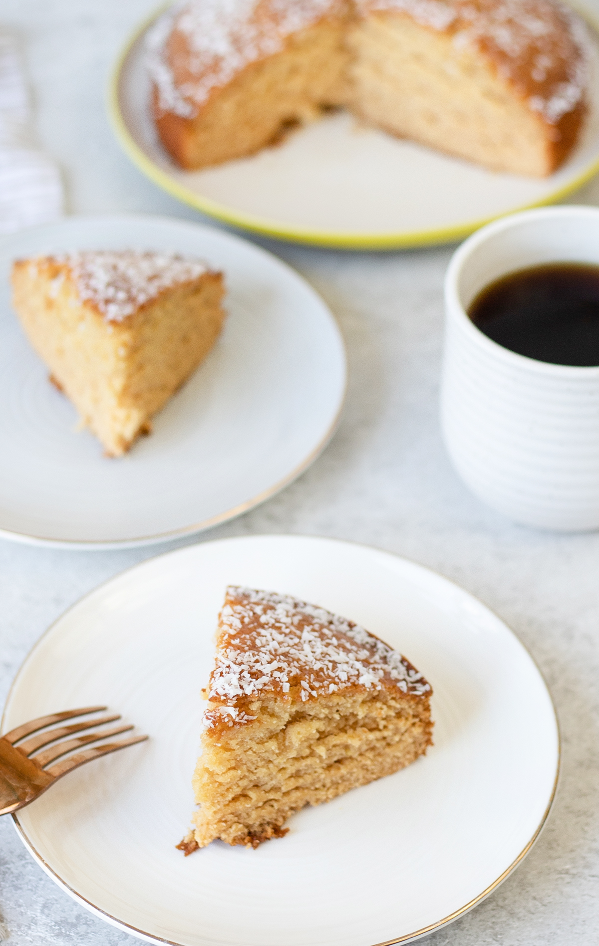 Golden Syrup Cake is a moist sponge cake made with golden syrup