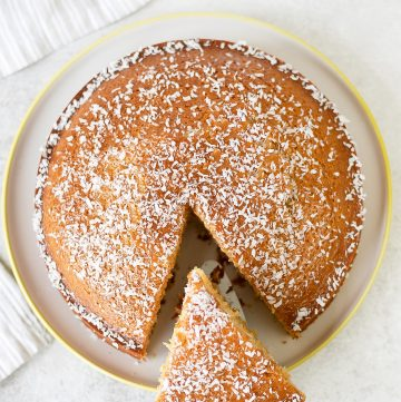 Golden Syrup Cake is a moist sponge cake made with golden syrup, butter,