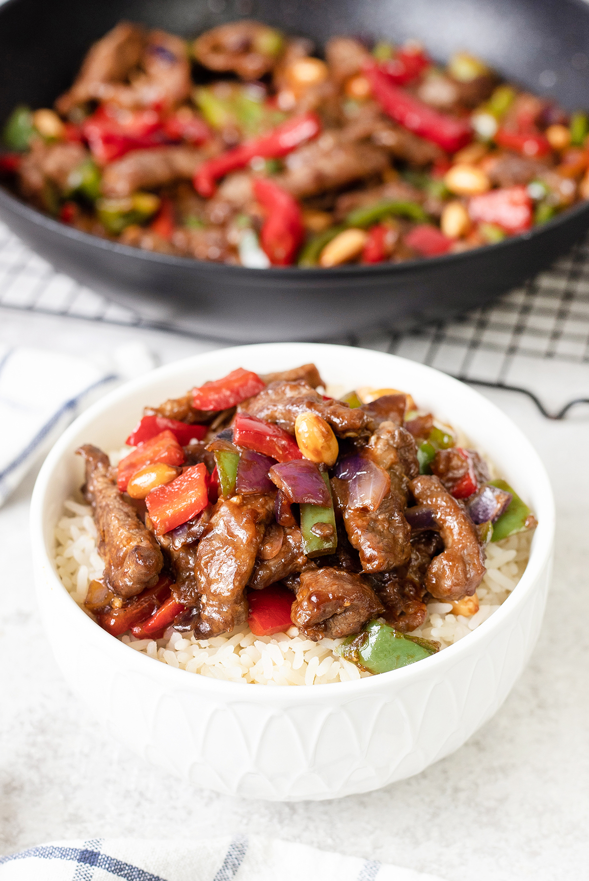 Kung Pao Beef is a Chinese stir fry dish