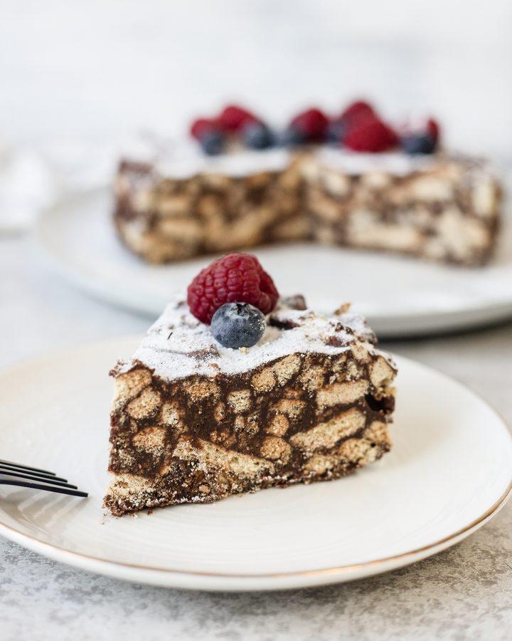 Lazy Cake - No-bake chocolate biscuit cake