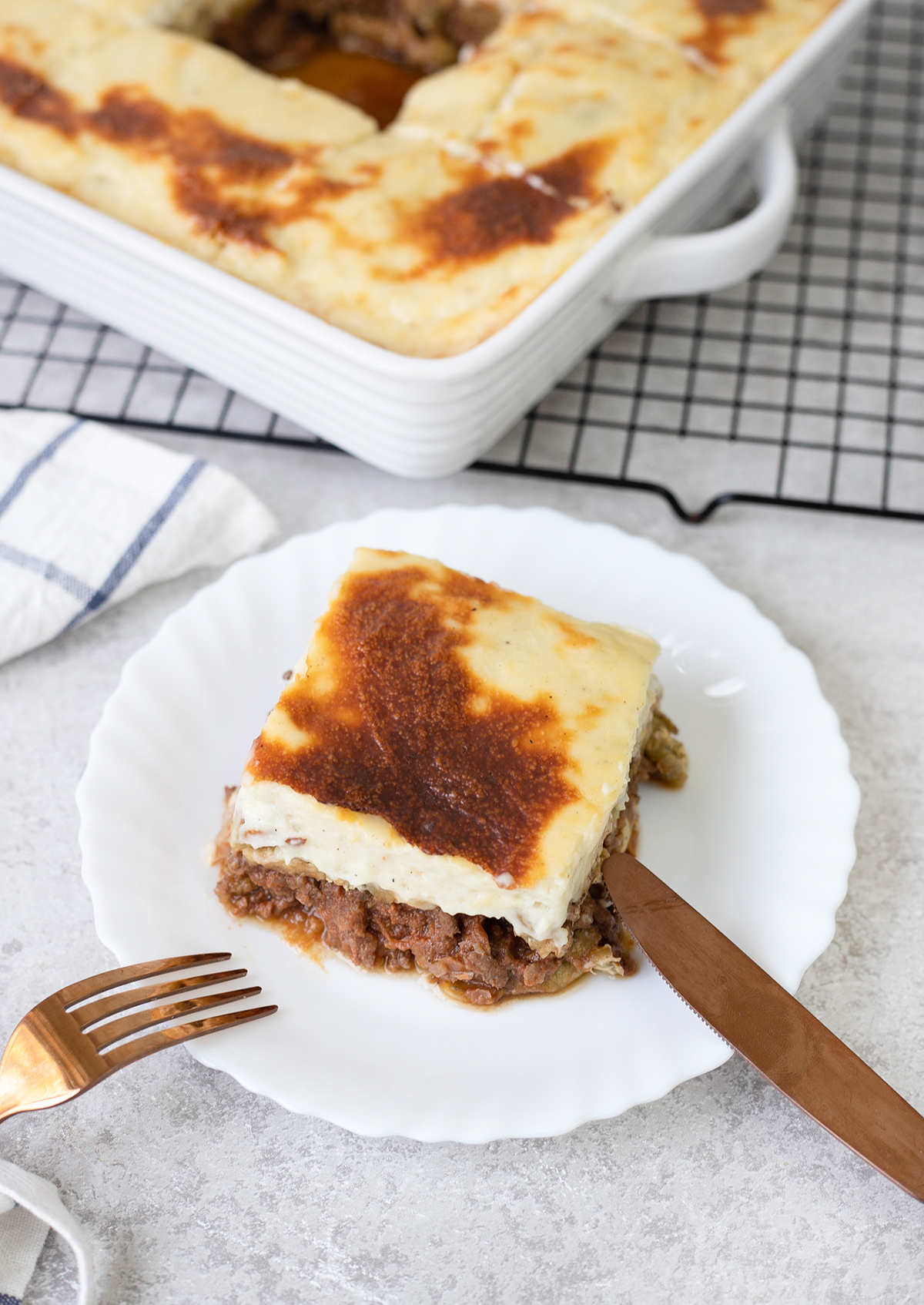 Moussaka or Musaka is a delicious main dish