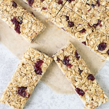 Oat and Honey Granola Bars