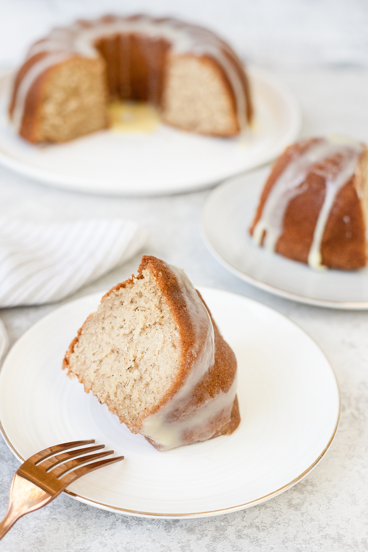 Today's dessert is an eggnog recipe, a super moist eggnog bundt cake.