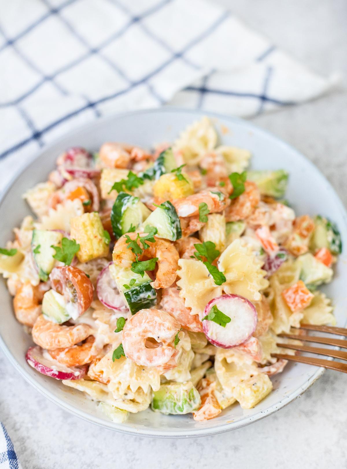 dish full of salad